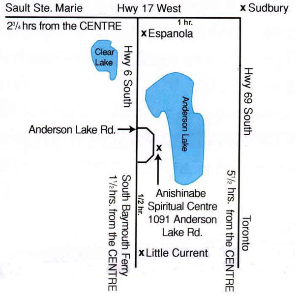 Anishinabe Spiritual Centre Map