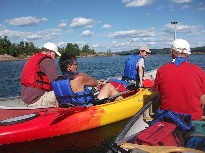 Canoeing around Espanola, Ontario - Anishinabe Spiritual Centre - Retreat Centre
